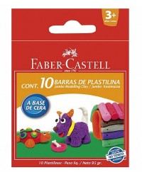 PLASTILINA 10 CULORI 95G FABER-CASTELL