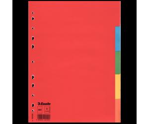 Separatoare Esselte, carton, A4, 5 taste, multicolor