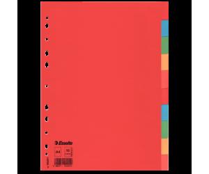 Separatoare Esselte, carton, A4, 10 taste, multicolor