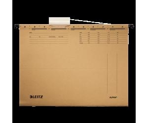 Dosar suspendabil Leitz Alpha, carton, A4, natur