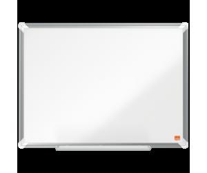 Tabla NOBO Premium Plus, otel lacuit, 60x45 cm, magnetica, include marker si tavita, alb