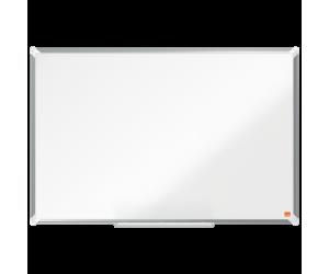 Tabla NOBO Premium Plus, otel lacuit, 90x60 cm, magnetica, include marker si tavita, alb