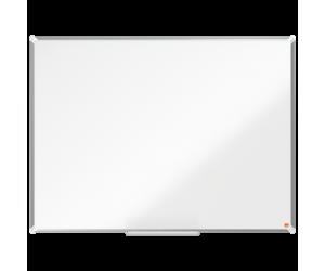Tabla NOBO Premium Plus, otel lacuit, 120x90 cm, magnetica, include marker si tavita, alb