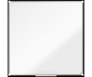 Tabla NOBO Premium Plus, otel lacuit, 120x120 cm, magnetica, include marker si tavita, alb