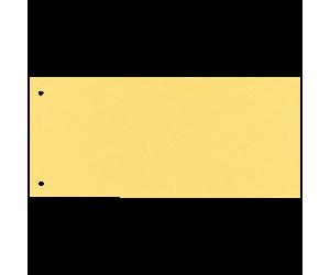Separatoare Esselte, carton cu 2 perforatii, 100 buc/set, galben