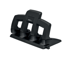 Perforator metalic Rapid Supreme SP34 PressLess, 30 coli, 4 perforatii, cutie, negru