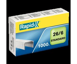 Capse Rapid Standard, 26/6, 2-20 coli, 1000 buc/cutie