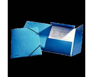 Mapa cu elastic Esselte Rainbow, carton, A4, albastru