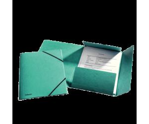 Mapa cu elastic Esselte Rainbow, carton, A4, verde