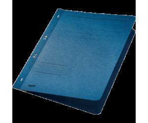 Dosar cu sina Leitz 1/1, carton, A4, cu capse, 170 coli, albastru