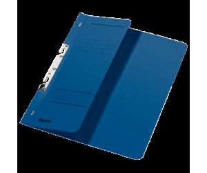 Dosar cu sina Leitz 1/2, carton, A4, incopciat, 170 coli, albastru