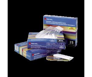 Pungi pentru distrugatoare documente Rexel, plastic, 115l, 100 buc/set, transparent