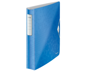 Caiet mecanic Leitz Active WOW SoftClick, polyfoam, A4, mecanism 4DR, inel 30 mm, albastru