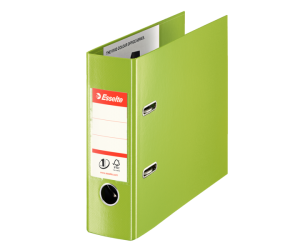 Biblioraft Esselte No.1 Power VIVIDA, pentru banci, PP/PP, 75 mm, verde