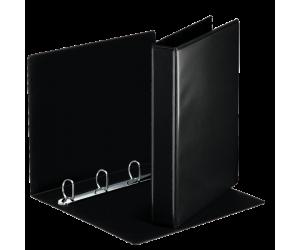Caiet mecanic Esselte Panorama, PP/PP, A4, mecanism 4DR, inel 30 mm, negru