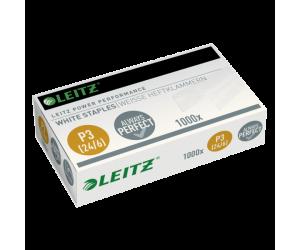 Capse Leitz Power Performance, P3, 24/6, 1000 buc/cutie, albe