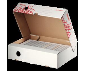 Cutie depozitare si arhivare Esselte Speedbox, orizontala, carton, 80 mm, alb