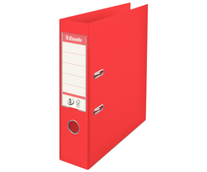 Biblioraft Esselte No.1 Power VIVIDA, PP/PP, A4, 75 mm, rosu