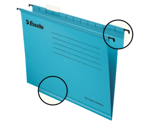 Dosar suspendabil Esselte Classic, carton, A4, 25 buc/set, albastru