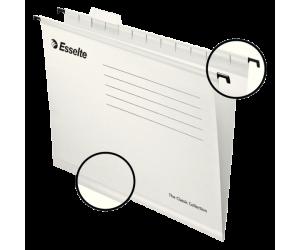 Dosar suspendabil Esselte Classic, carton, A4, 25 buc/set, alb