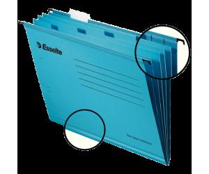 Dosar suspendabil Esselte Classic cu separatoare, carton, A4, 10 buc/set, albastru