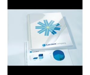 Coperta legare documente GBC, PVC, A4, 150 mic, 100 buc/set, transparent