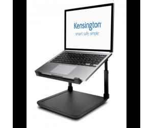 Suport pentru laptop Kensington SmartFit, inaltime reglabila, cu suport pentru depozitare, negru