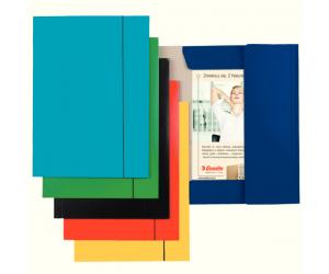 Mapa cu elastic Esselte Economy, carton, A4, albastru deschis