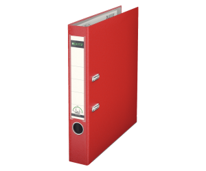 Biblioraft Leitz 180°, PP, A4, 52mm, rosu