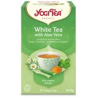Ceai Bio Alb cu Aloe Vera, 17 pliculete - 30.6gr Yogi Tea