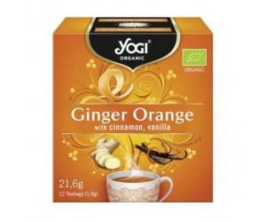 Ceai Yogi Tea Bio PORTOCALE GHIMBIR SCORTISOARA si VANILIE 12 plicuri / cutie